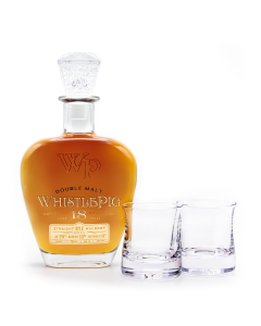 Double Malt Rye Aged 18 Years - 1st Edition with a Pair The Shoreham Whiskey Glasses Handcrafted by Simon Pearce