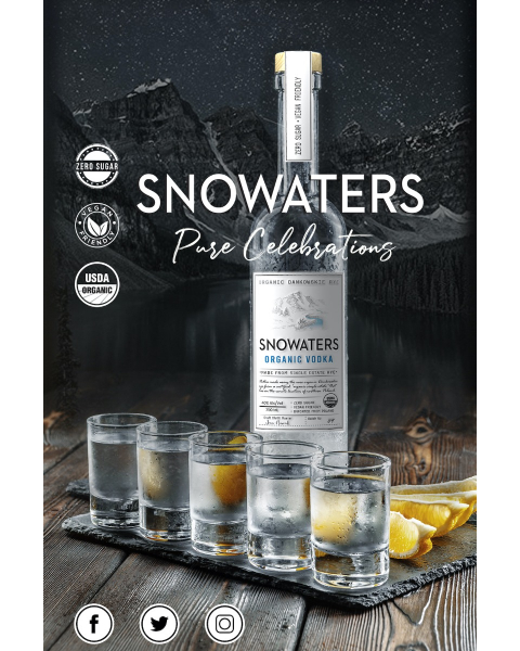 Snowaters Organic Vodka (SHIPPING INCLUDED until August 1, 2021)